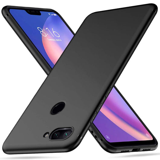 TGPro Xiaomi Mi 8 Lite Case Soft Gel Matte Black