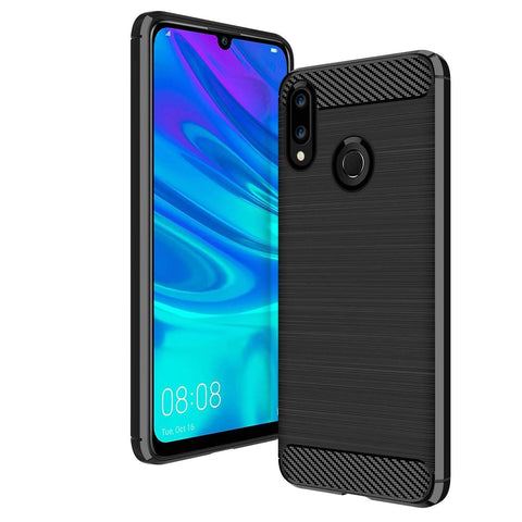 Huawei P smart 2019 Case Carbon Fibre Black - That Gadget UK