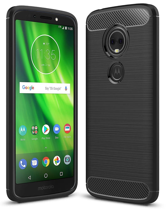 Motorola Moto G6 Play Case Carbon Fibre Black - That Gadget UK
