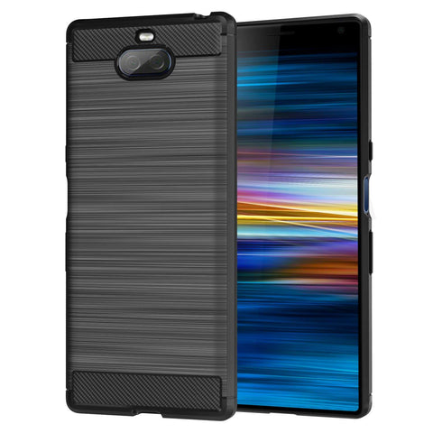 TGPro Sony Xperia 10 Plus Case Carbon Fibre Black