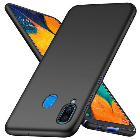 Samsung Galaxy A40 Case Ultra Slim Hard Matte Black - That Gadget UK