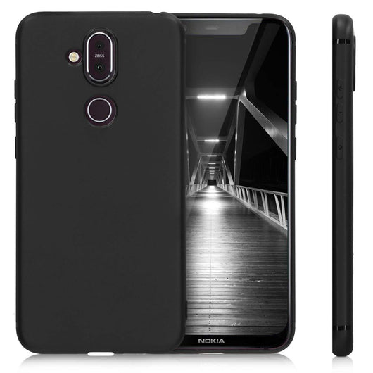 Nokia 8.1 (Nokia X7) Case Soft Gel Matte Black - That Gadget UK