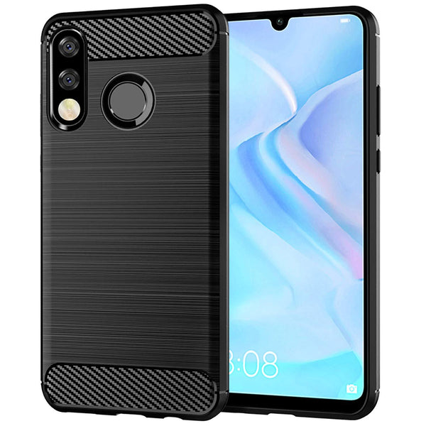Huawei P30 lite Case Carbon Fibre Black - That Gadget UK