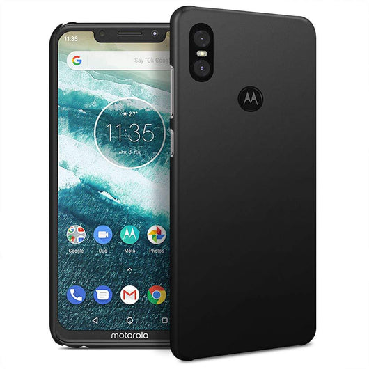 Motorola One Case Ultra Slim Matte Black - That Gadget UK