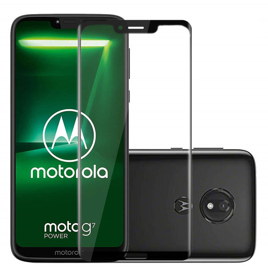 Motorola Moto G7 Power Tempered Glass Screen Protector Full Coverage - That Gadget UK