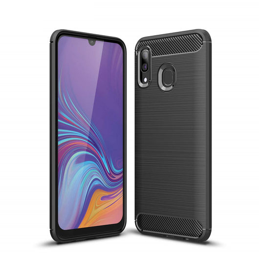 Samsung Galaxy A30 Case Carbon Fibre Black - That Gadget UK