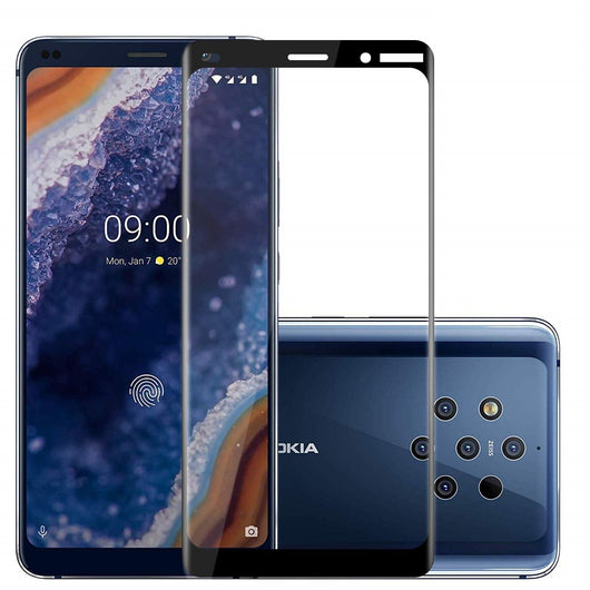 Nokia 9 PureView Tempered Glass Screen Protector Full Coverage - That Gadget UK