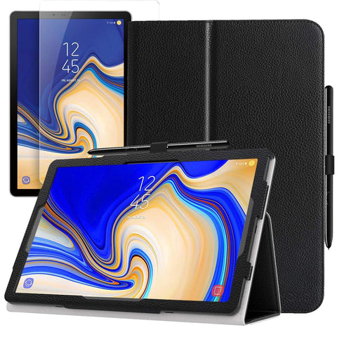 TGPro Folio Case & Tempered Glass Screen Protector for Samsung Galaxy Tab S4
