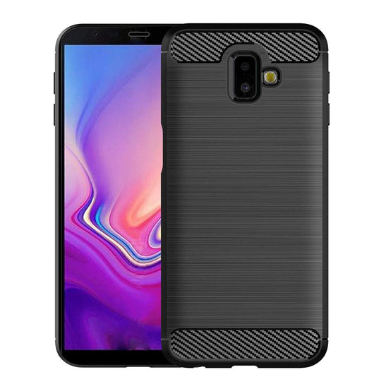 Samsung Galaxy J6+ Case Carbon Fibre Black - That Gadget UK