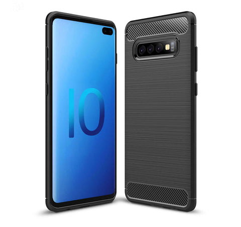 Samsung Galaxy S10 5G Case Carbon Fibre Black - That Gadget UK