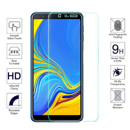 Samsung Galaxy A7 (2018) Tempered Glass Screen Protector Guard (Case Friendly) - That Gadget UK