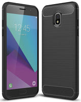 Samsung Galaxy J3 (2018) Case Carbon Fibre Black - That Gadget UK