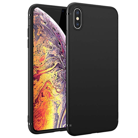 "Apple iPhone XS (5.8"") Case Soft Gel Matte Black - That Gadget UK"