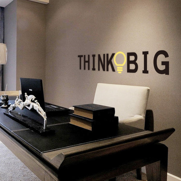 THINK BIG Wall Sticker - That Gadget UK