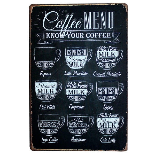 Know Your Coffee Old Tin Sign - That Gadget UK
