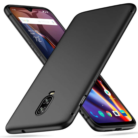 OnePlus 6T Case Soft Gel Matte Black - That Gadget UK