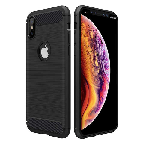 "Apple iPhone XS Max (6.5"") Case Carbon Fibre Black - That Gadget UK"