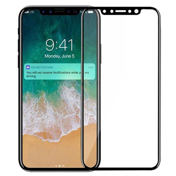 iPhone X Full Cover Tempered Glass Screen Protector - That Gadget UK