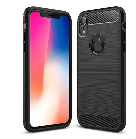 "Apple iPhone XR (6.1"") Case Carbon Fibre Black - That Gadget UK"