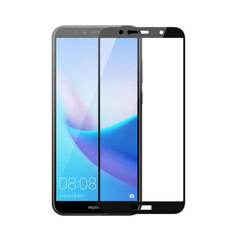 Huawei Y6 (2018) Tempered Glass Screen Protector Full Coverage - That Gadget UK