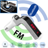 Bluetooth  Hands Free Car Kit MP3 Music Player With Single USB Car Charger Radio Adapter 4 in 1 LED Bluetooth Car FM Transmitter