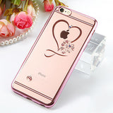 Crystal Heart Cases For iPhone 7 / 6 / 6S / Plus