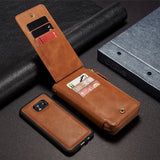 Stand Flip Wallet For Samsung Galaxy
