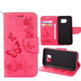 Flower Leather Wallet Cover For Samsung Galaxy