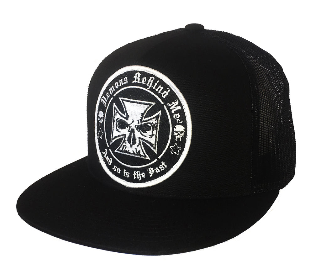 Black Flexfit Classic Trucker Hat w/ Embroidered Patch