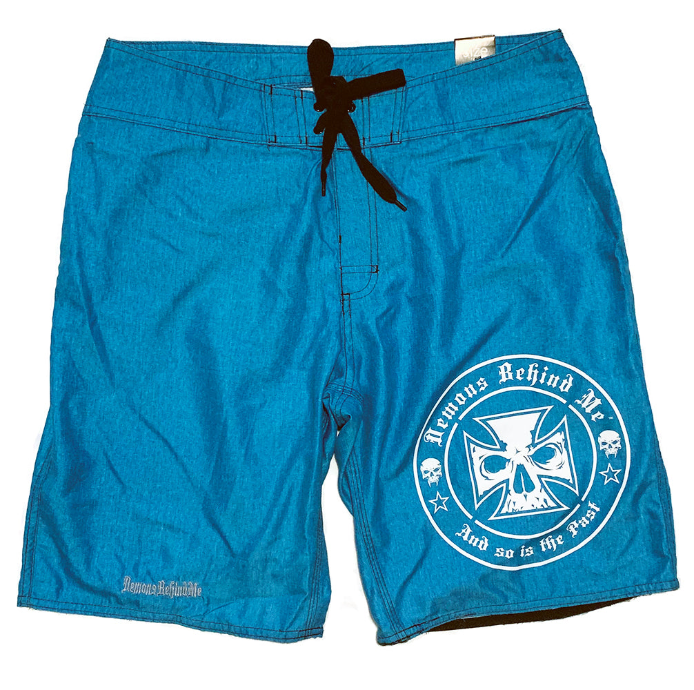 NOW AVAILABLE! Teal/Blue Embroidered Board Shorts