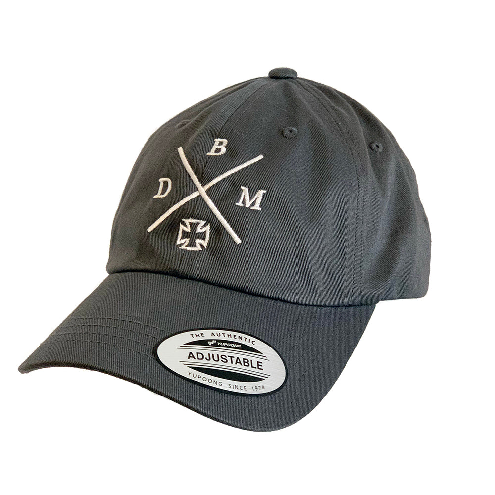 NEW! Unisex Grey Adjustable Embroidered Dad Cap