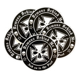 High-Performance UV Vinyl Sticker Pack (5) - White Maltese Cross