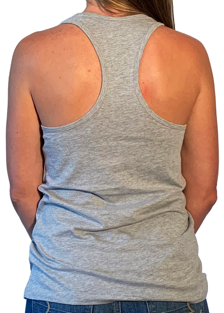 "Women's ""Forged By The Past"" Athletic Heather Racerback Tank Top"