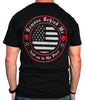 Men's Black T-Shirt - Salute to Those Who Serve - Red