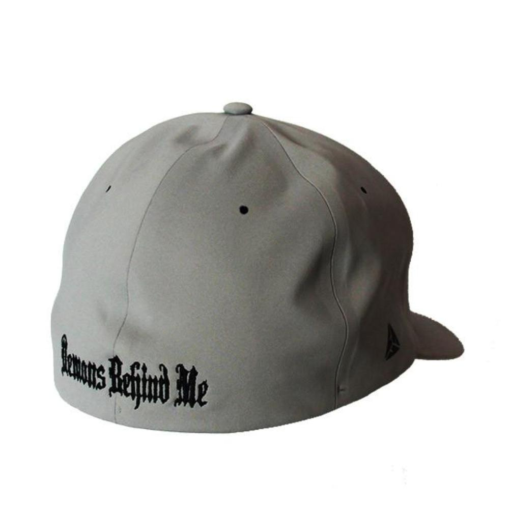 Delta Performance Fitted Hat - White Stitch Cross