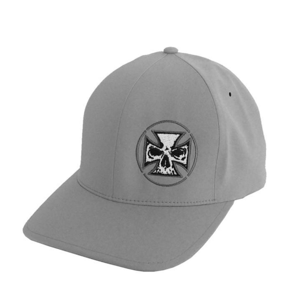 Delta Performance Fitted Hat White Cross