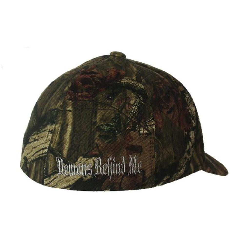 Camo Flexfit Fitted Hat - Green Stitch Cross