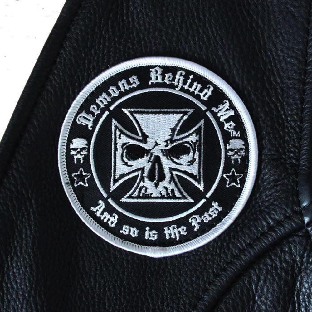 Sew On Patch - White Skull