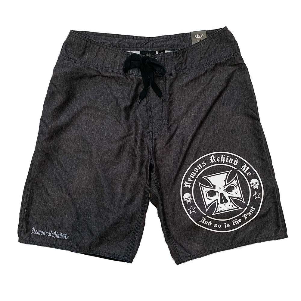 NOW AVAILABLE! Charcoal Embroidered Board Shorts