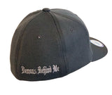 NEW Charcoal Flexfit Never Fade Fitted Hat - White Maltese Cross
