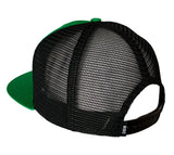 Black & Green Classic Trucker Hat w/ Embroidered Patch
