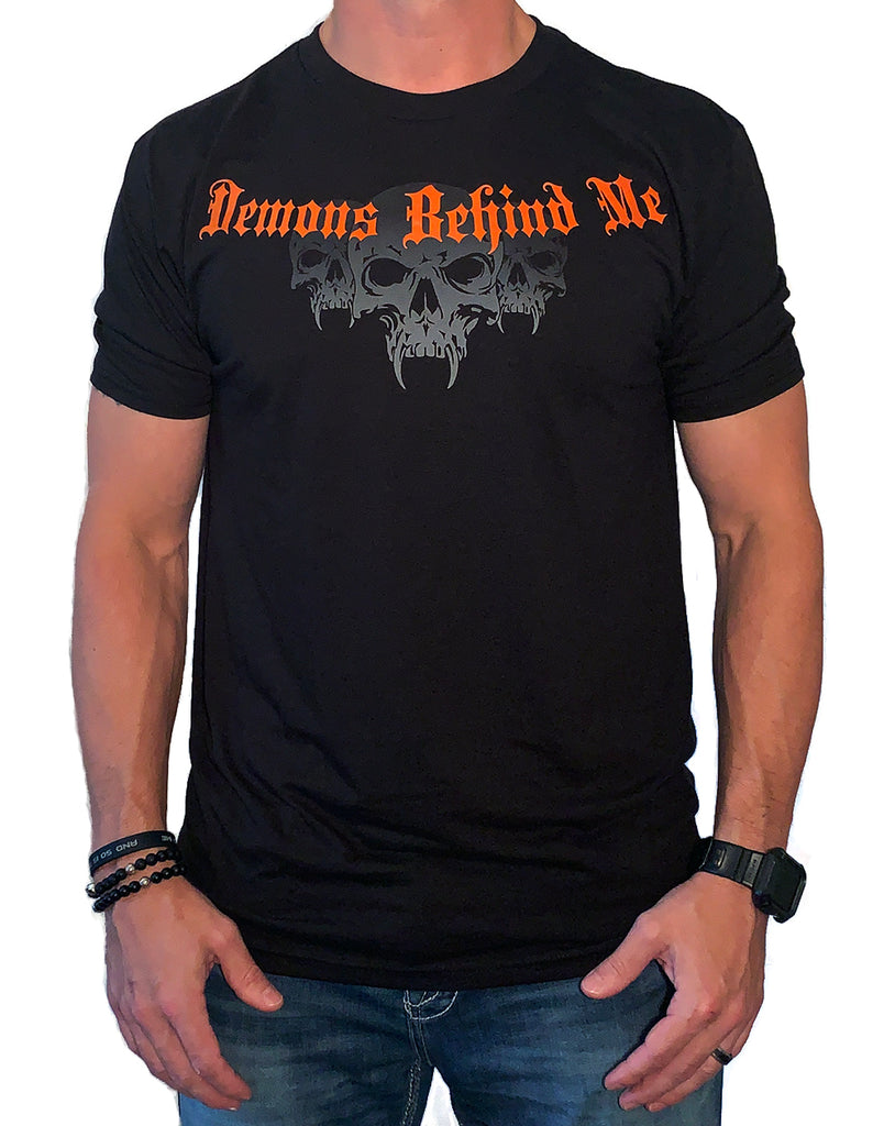 NEW! Light-Weight Men's Black T-Shirt - Harley Orange Ink
