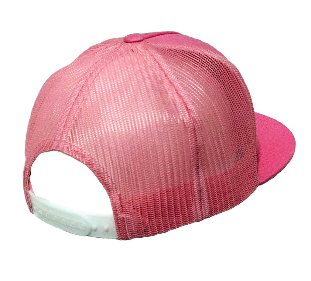 NEW! All Pink Classic Trucker Hat w/ Embroidered Patch