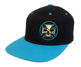 Teal, Black & Gold Flexfit Snapback