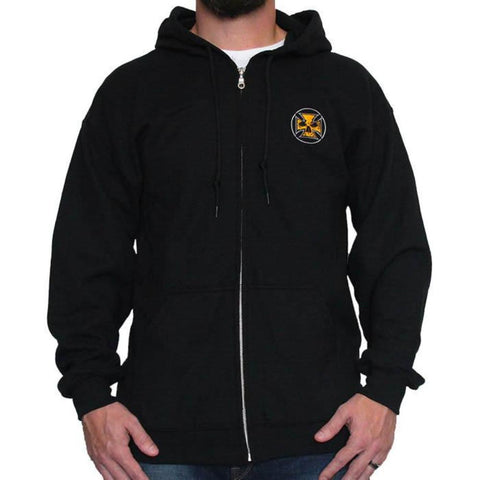 NEW! Black Unisex Hooded Sweatshirt - Vintage Maltese Cross Logo