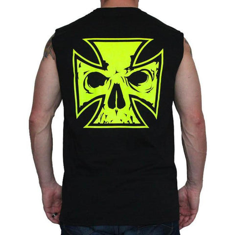 Men's Black T-Shirt - Phoenix Rising - Red, Neon Yellow, Neon Orange Ink
