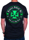 NEW! Light-Weight Men's Black T-Shirt - Neon Green Ink