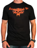 Men's Classic Neon Orange Logo - Black T-Shirt