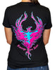 NEW! Women's Deep V Black T-Shirt - Phoenix Rising 2.0
