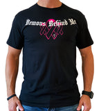 Awareness Ribbon Series - Pink - Unisex Black T-Shirt